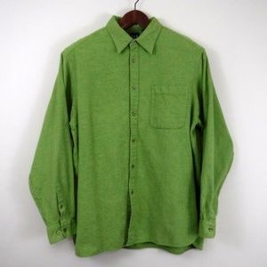 Gap Green Flannel Button Up Shirt Mens Size Large